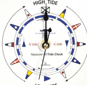 Classic Dial Square Standing Tide Clock - Acrylic TC 1010 C - ACR 150 x 150mm Thumbnail 5