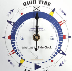 White Dial Tide Clock - Acrylic Classic Dial TC 7000 A - ACR 180 x 180mm Thumbnail 3