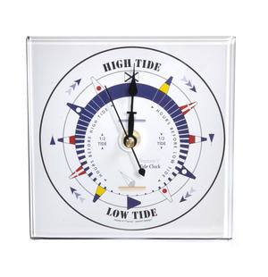 White Dial Square Standing Tide Clock - Acrylic TC 1010 A - ACR 150 x 150mm Thumbnail 4