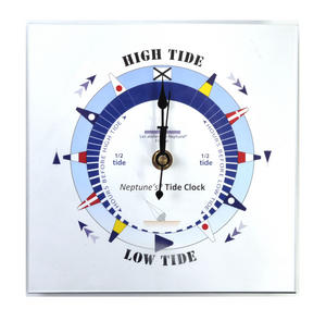 Blue Dial Tide Clock - Acrylic Classic Dial TC 7000 B - ACR 180 x 180mm Thumbnail 1