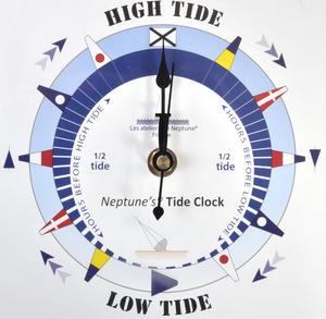 Blue Dial Tide Clock - Acrylic Classic Dial TC 7000 B - ACR 180 x 180mm Thumbnail 4