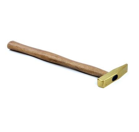 Brass Hammer - Brass & Oak Machinist Style Metalworker's Hammer
