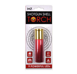 Shotgun Shell Torch - 9 Powerful LEDs