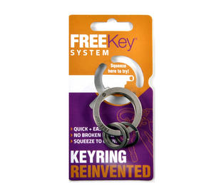 Free Key System - The Reinvented Keyring - Press To Open Keyring Thumbnail 1