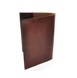 Khimaar Neutral Colour Leather Koran Book Sleeve with Alquram Alkarim Embossed Text Thumbnail 3