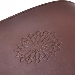 Khimaar Neutral Colour Leather Koran Book Sleeve with Alquram Alkarim Embossed Text Thumbnail 5