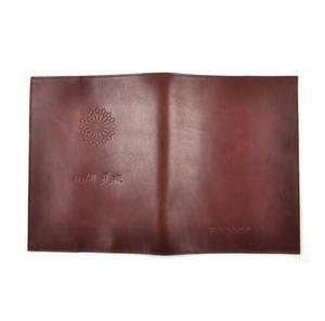 Khimaar Neutral Colour Leather Koran Book Sleeve with Alquram Alkarim Embossed Text Thumbnail 7