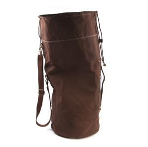 Sea Sack - Full Size Cylinder Kit Bag - Heavy Brown Canvas & Leather Thumbnail 1