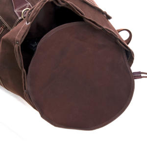 Sea Sack - Full Size Cylinder Kit Bag - Heavy Brown Canvas & Leather Thumbnail 4