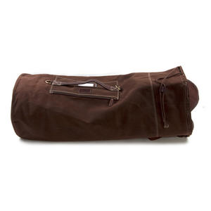 Sea Sack - Full Size Cylinder Kit Bag - Heavy Brown Canvas & Leather Thumbnail 5