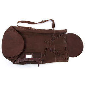 Sea Sack - Full Size Cylinder Kit Bag - Heavy Brown Canvas & Leather Thumbnail 6