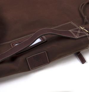 Sea Sack - Full Size Cylinder Kit Bag - Heavy Brown Canvas & Leather Thumbnail 7