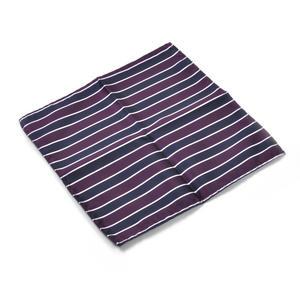 Navy & Maroon Striped Pocket Square Handkerchief Thumbnail 1
