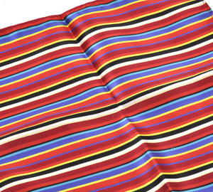 Multi Coloured Striped Pocket Square Handkerchief Thumbnail 2