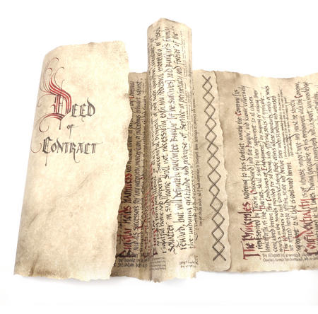 The Hobbit Bilbo Baggins Deed of Contract by The Noble Collection