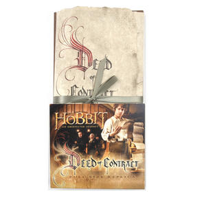 The Hobbit Bilbo Baggins Deed of Contract by The Noble Collection Thumbnail 2