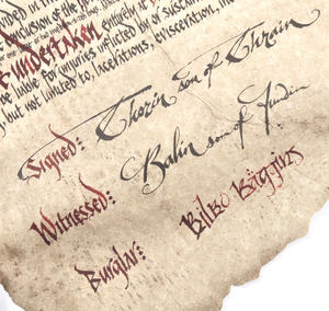 The Hobbit Bilbo Baggins Deed of Contract by The Noble Collection Thumbnail 6