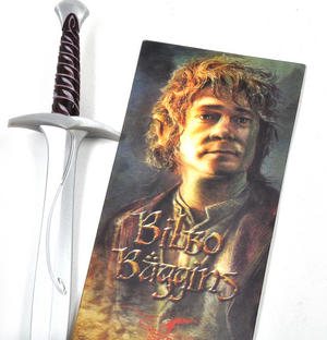 The Hobbit Bilbo Baggins Pen and Lenticular Bookmark Set by The Noble Collection Thumbnail 3