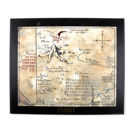 The Hobbit Thorin Oakenshield Map by The Noble Collection