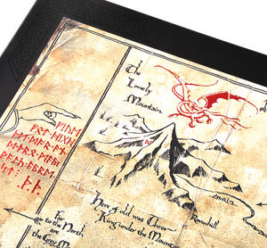 The Hobbit Thorin Oakenshield Map by The Noble Collection Thumbnail 2