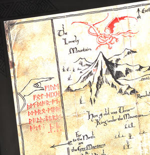 The Hobbit Thorin Oakenshield Map by The Noble Collection Thumbnail 6