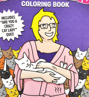 Crazy Cat Lady Colouring Book Thumbnail 2