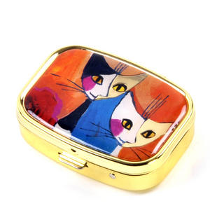 Two Cat Portrait / Zwei Katzen Portrait Pill Box designed by Rosina Wachtmeister Thumbnail 4