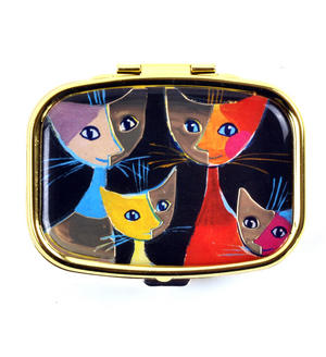 Four Cats / Vier Katzen Pill Box designed by Rosina Wachtmeister Thumbnail 1