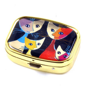 Four Cats / Vier Katzen Pill Box designed by Rosina Wachtmeister Thumbnail 4