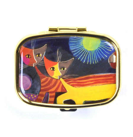 Cats and the Sun / Katzen mit Sonne Pill Box designed by Rosina Wachtmeister