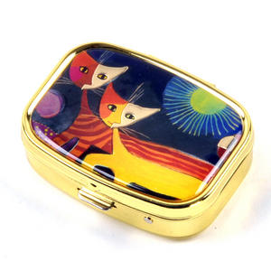 Cats and the Sun / Katzen mit Sonne Pill Box designed by Rosina Wachtmeister Thumbnail 4