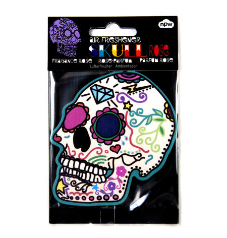 Sugar Skull Rose Air Freshener - Rose Fragrance