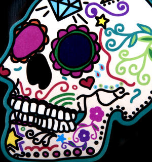 Sugar Skull Rose Air Freshener - Rose Fragrance Thumbnail 2