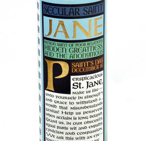 Jane Austen - Secular Saint Jane Candle Thumbnail 3