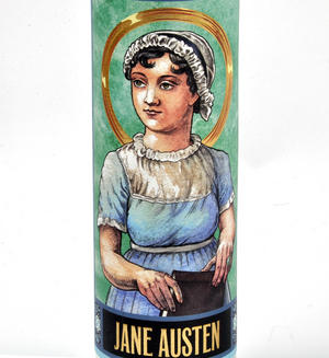 Jane Austen - Secular Saint Jane Candle Thumbnail 4