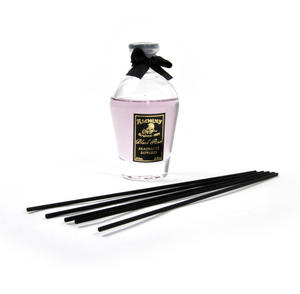 Black Rose Perfume Dispenser with Black Reeds  & Purple Rose Liquid 80ml Thumbnail 1
