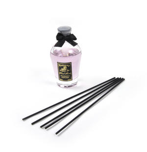 Black Rose Perfume Dispenser with Black Reeds  & Purple Rose Liquid 80ml Thumbnail 3