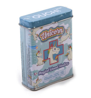 Unicorn Magical Wound Healers - First Aid In A Tin - Plasters / Band Aids Thumbnail 2