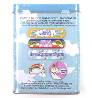 Unicorn Magical Wound Healers - First Aid In A Tin - Plasters / Band Aids Thumbnail 3