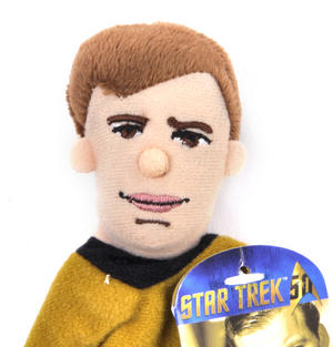 Captain Kirk - Star Trek Finger Puppet & Fridge Magnet Thumbnail 2