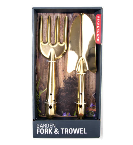 Gold Garden Fork & Trowel
