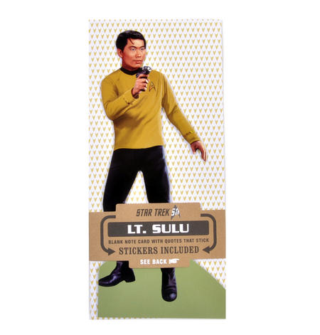 Lt. Sulu - Star Trek Greeting Card With Sticker Sheet