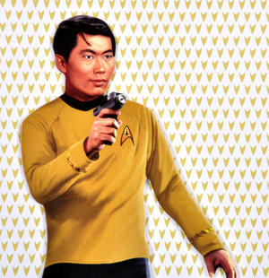 Lt. Sulu - Star Trek Greeting Card With Sticker Sheet Thumbnail 2
