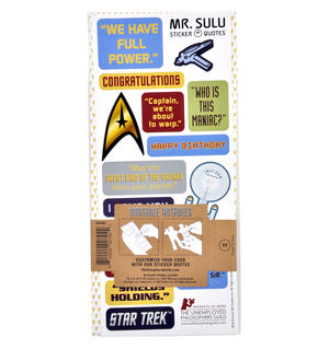 Lt. Sulu - Star Trek Greeting Card With Sticker Sheet Thumbnail 3