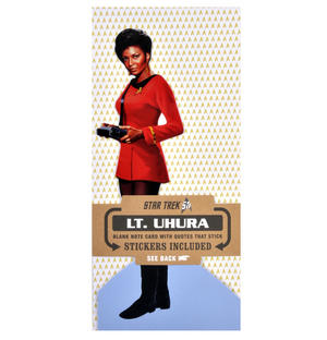 Lt. Uhura - Star Trek Greeting Card With Sticker Sheet Thumbnail 1