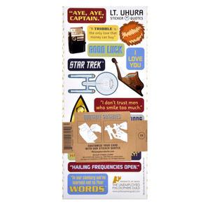 Lt. Uhura - Star Trek Greeting Card With Sticker Sheet Thumbnail 2