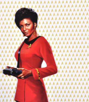 Lt. Uhura - Star Trek Greeting Card With Sticker Sheet Thumbnail 3