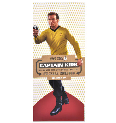 Captain Kirk - Star Trek Greeting Card With Sticker Sheet