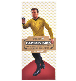 Captain Kirk - Star Trek Greeting Card With Sticker Sheet
