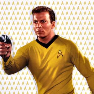 Captain Kirk - Star Trek Greeting Card With Sticker Sheet Thumbnail 2